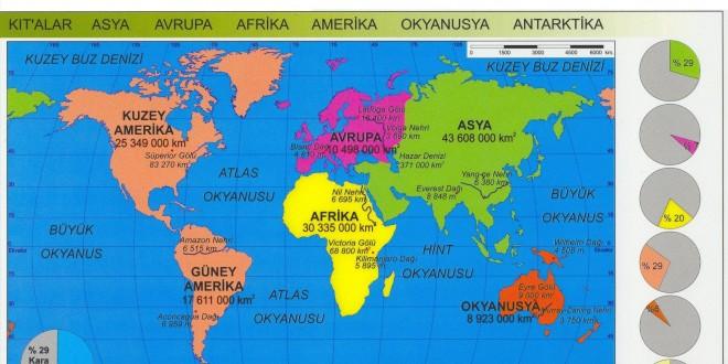 Dünya Okyanuslar Haritası