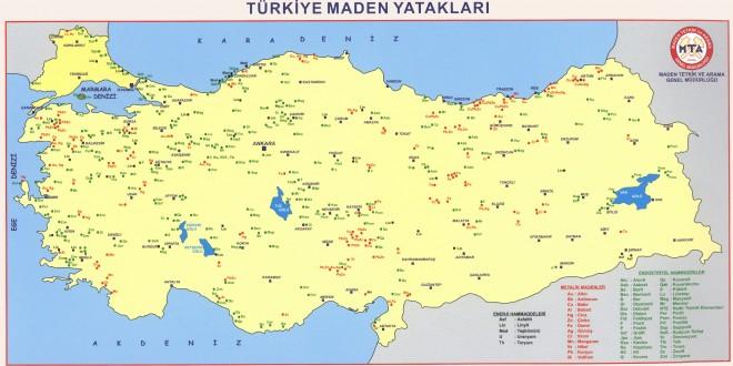 Türkiye'nin Madencilik Haritası