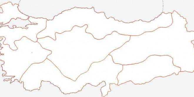 Türkiye Bölgeler Haritası Yazısız Kısa Bilgiler