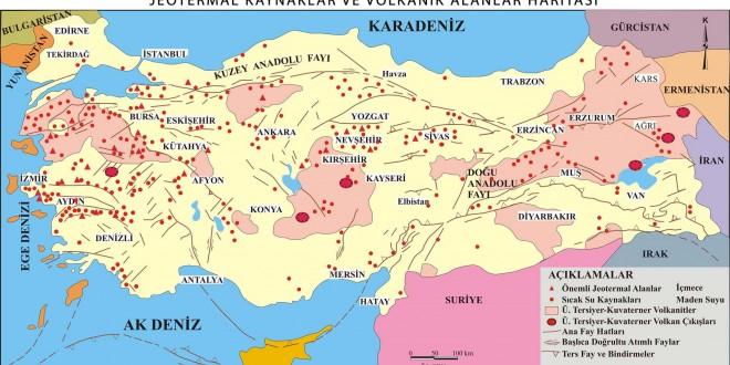 Türkiyedeki Volkanik Alanlar ve Jeotermal Kaynaklar
